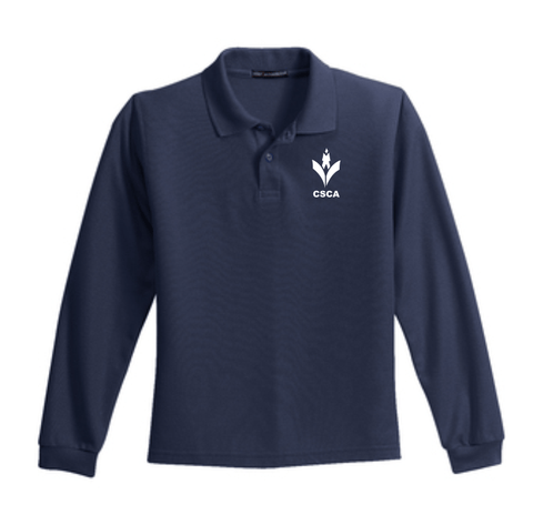 CSCA Youth Long Sleeve Embroidered Polo Navy