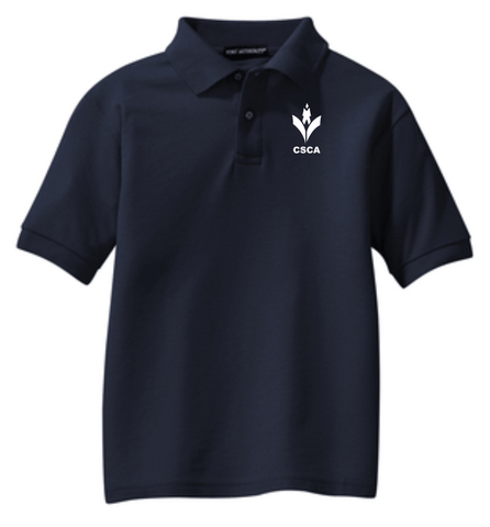 CSCA Youth Embroidered Polo Navy