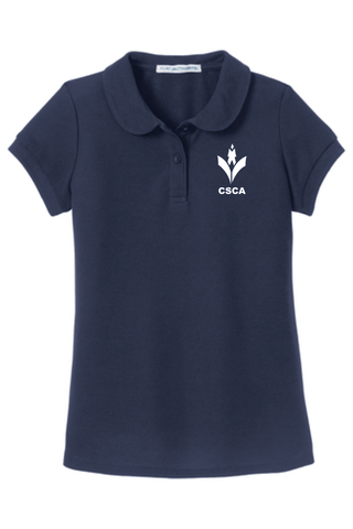 CSCA Peter Pan Embroidered Blouse Navy