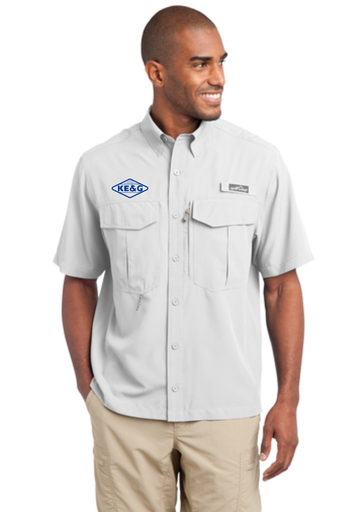 KE&G Eddie Bauer - Short Sleeve Performance Fishing Shirt White