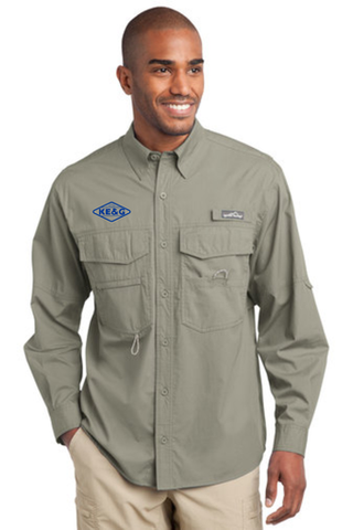 KE&G Eddie Bauer - Long Sleeve Fishing Shirt Driftwood
