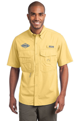 KE&G Eddie Bauer - Short Sleeve Fishing Shirt Goldenrod Yellow