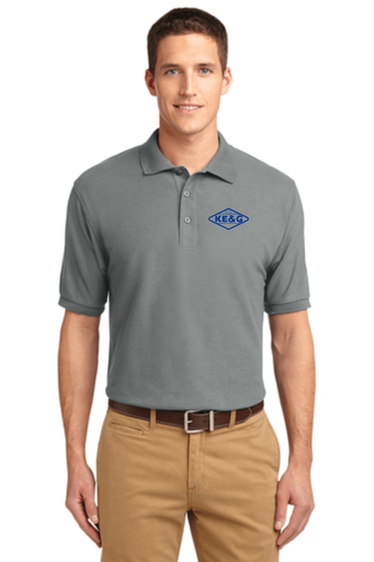 KE&G Port Authority Unisex Silk Touch Polo Cool Grey