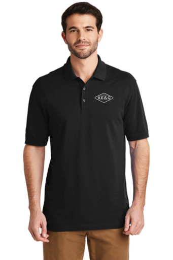 KE&G Port Authority EZCotton Polo Black