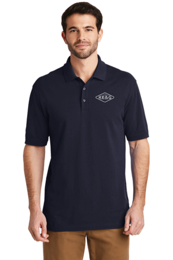 KE&G Port Authority EZCotton Polo Navy