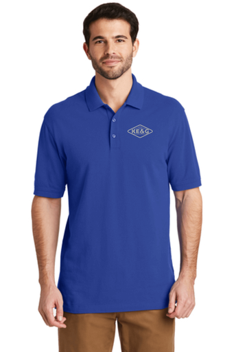 KE&G Port Authority EZCotton Polo True Royal