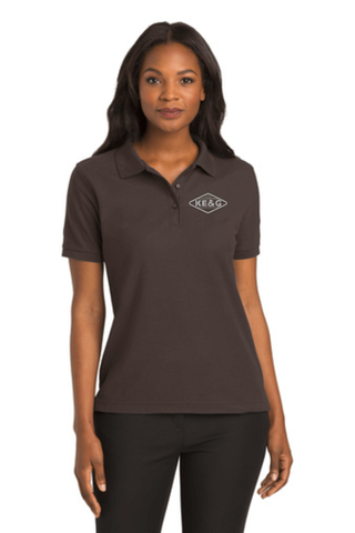 KE&G Port Authority Ladies Silk Touch Polo Coffee Bean