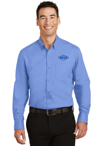 KE&G Port Authority SuperPro Twill Shirt Ultramarine Blue