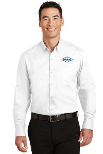 KE&G Port Authority SuperPro Twill Shirt White