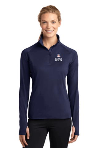 UofA Campus Health - Sport-Tek Ladies Sport-Wick Stretch 1/2-Zip Pullover