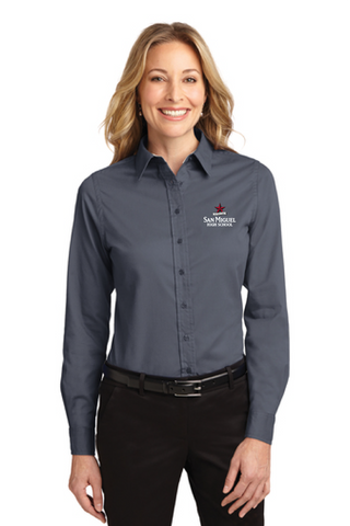 San Miguel High School - Ladies Long Sleeve Easy Care Shirt