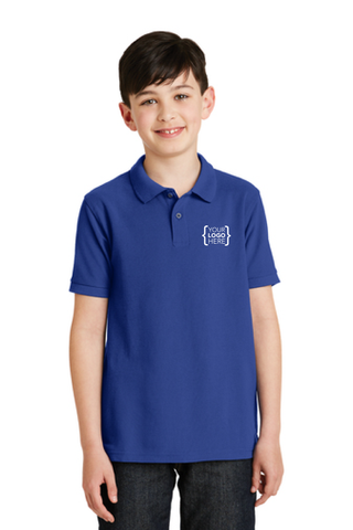 Your Name Here - Port Authority Youth Silk Touch Polo