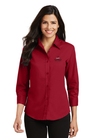 San Miguel High School - Port Authority Ladies 3/4-Sleeve Easy Care Shirt