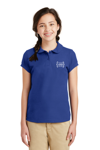 Your Name Here - Port Authority Girls Silk Touch Peter Pan Collar Polo