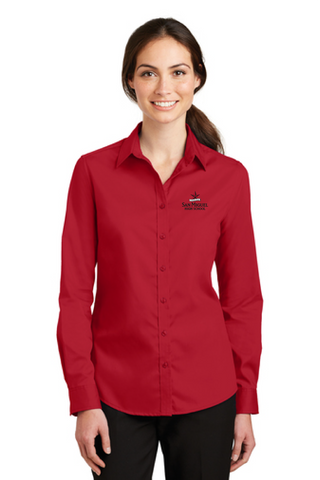 San Miguel High School - Ladies Port Authority SuperPro Twill Shirt