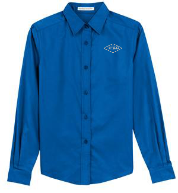 KE&G Port Authority Ladies Long Sleeve Easy Care Shirt