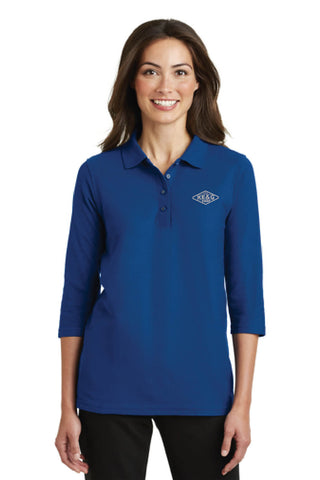 KE&G Port Authority Ladies Silk Touch 3/4-Sleeve Polo