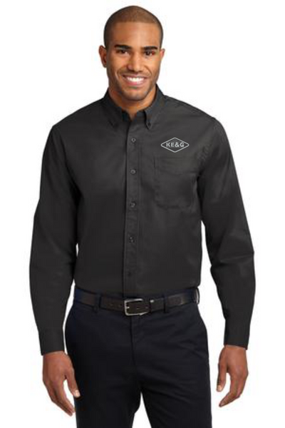 KE&G Port Authority Long Sleeve Easy Care Shirt.
