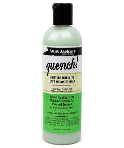 Aunt Jackie's Acondicionador Curls & Coils Quench! Moisture Intensive Leave-In Conditioner, 12oz