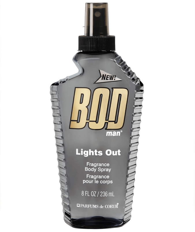 Bod Man Body Splash Lights Out Body Spray 236ml 05531