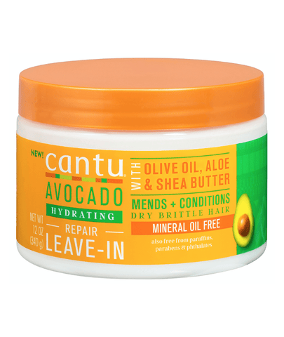Cantu Cabello Cantu Avocado Collection - Hydrating Repair Leave-In Conditioner Cream 12 Oz. 07989