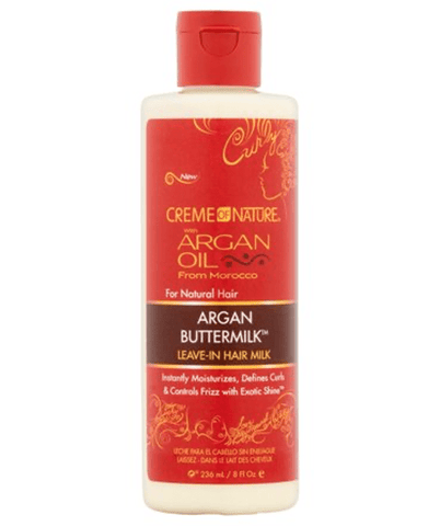 Creme Of Nature Tratamientos Argan Oil Argan Buttermilk Leave-In Hair Milk 8 Oz.