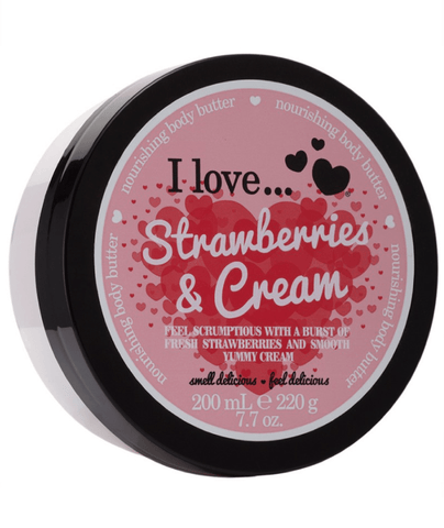 I Love Body Butter Strawberries & Cream Body Butter 200ml 88286