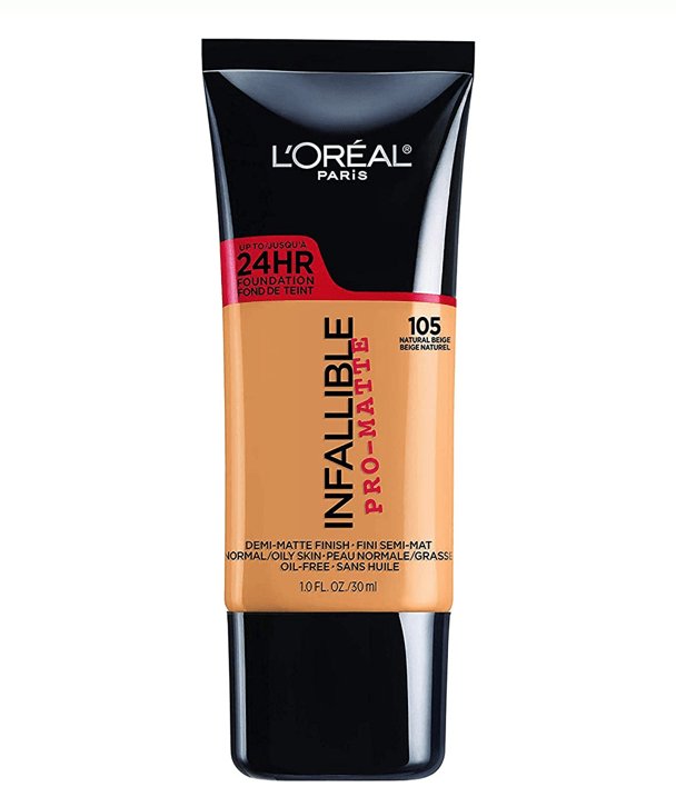 L'Oreal Rostro 105 - NATURAL BEIGE Infallible Pro-Matte Foundation 30ml
