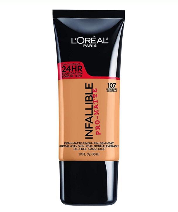 L'Oreal Rostro 107 - FRESH BEIGE Infallible Pro-Matte Foundation 30ml