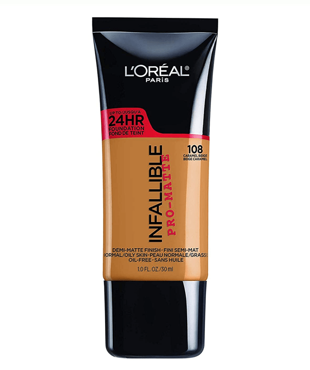 L'Oreal Rostro 108 - CARAMEL BEIGE Infallible Pro-Matte Foundation 30ml