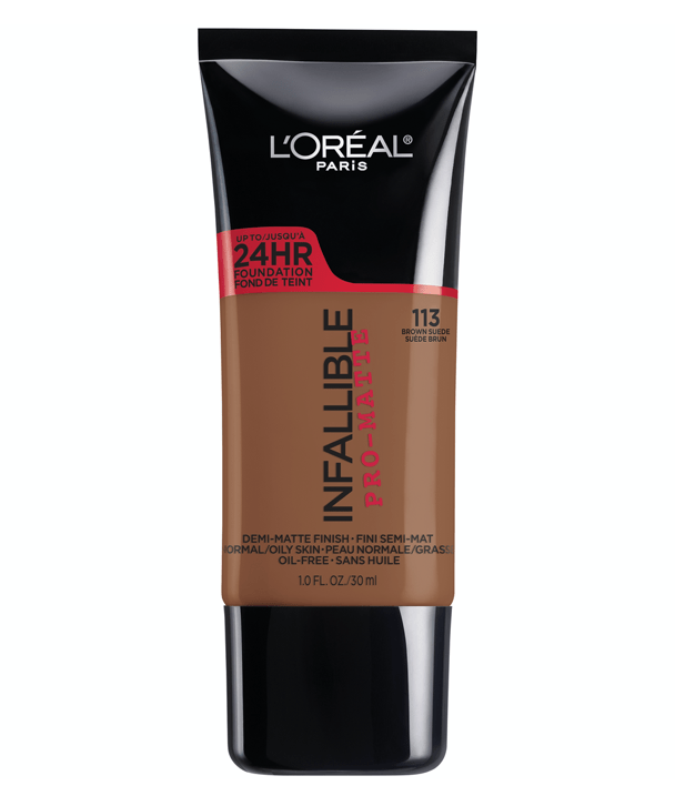L'Oreal Rostro 113 - BROWN SUEDE Infallible Pro-Matte Foundation 30ml
