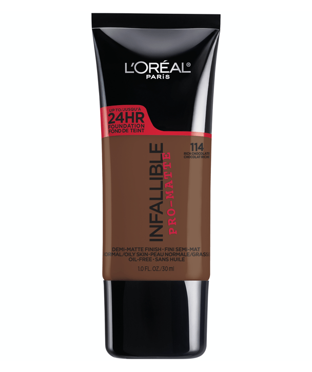 L'Oreal Rostro 114 - RICH CHOCOLATE Infallible Pro-Matte Foundation 30ml