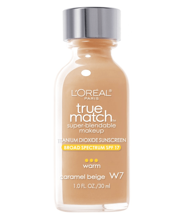 L'Oreal Rostro W7 - CARAMEL BEIGE True Match Super-Blendable Foundation 30ml