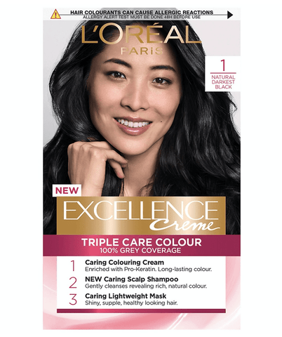 L'Oreal Tratamientos 1 NEGRO Excellence Créme Permanent Triple Protection Hair Color
