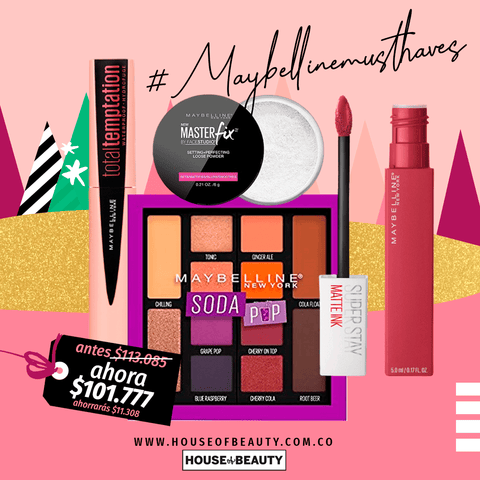 Maybelline New York Combos Combo #MaybellineMustHaves COM-MAQ-81