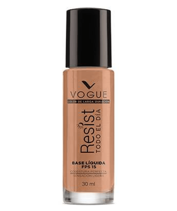 Vogue Cosméticos Rostro CARAMELO Base Líquida Resist 30ml
