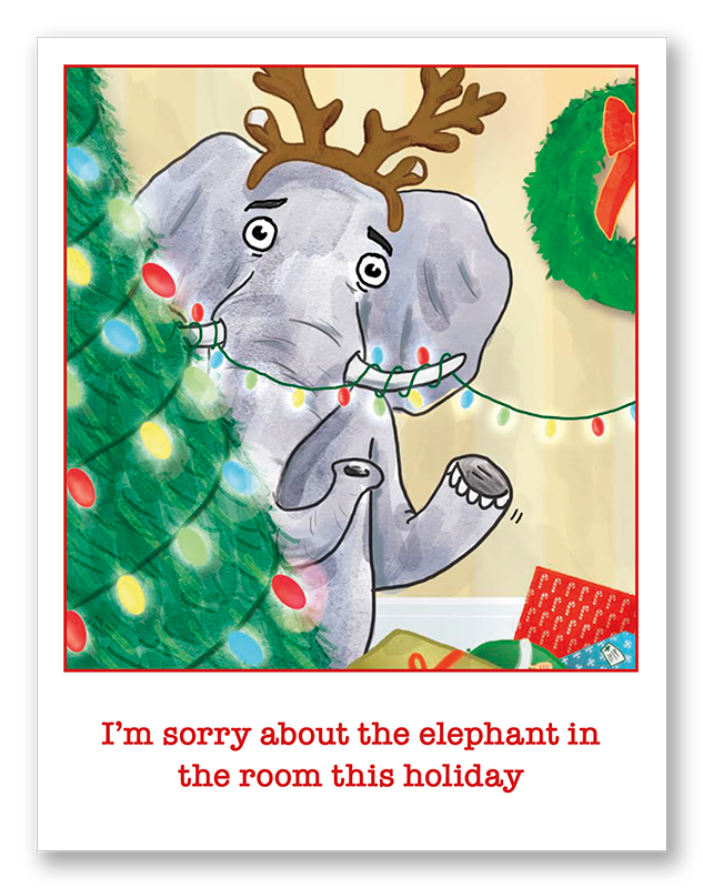 Elephant in the Room This Holiday | Single Card