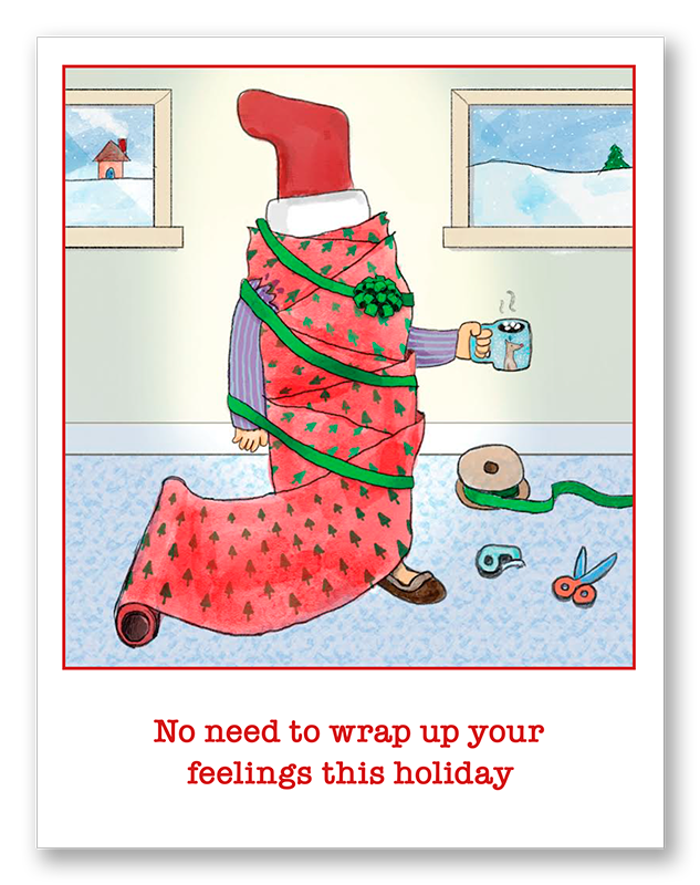 Wrapping Up Your Holiday Feelings | Single Card