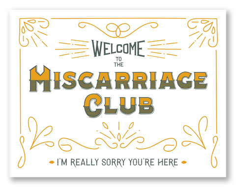 Miscarriage Club | Single Card