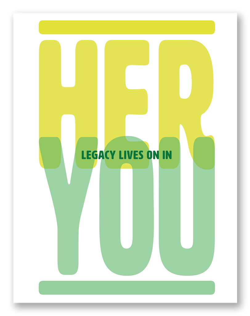 Her Legacy Lives On In You Sympathy Card | 6-Pack | C17R-HER