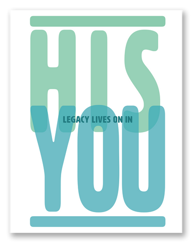 His Legacy Lives On In You Sympathy Card | 6-Pack | C17R-HIS
