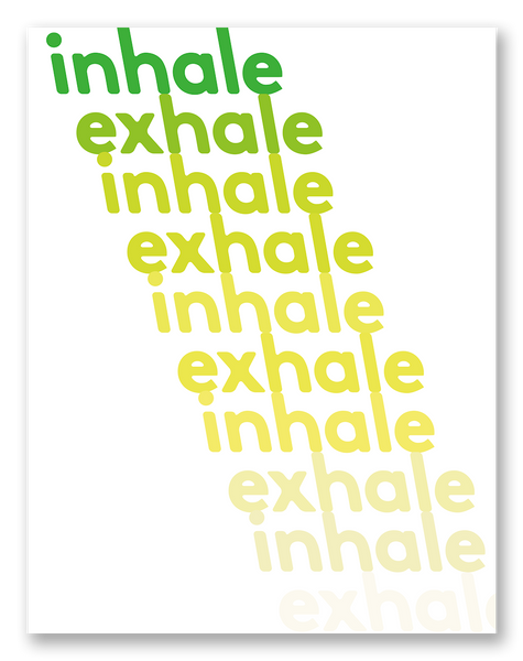 Inhale Exhale Self-Care Sympathy Card | Single Card