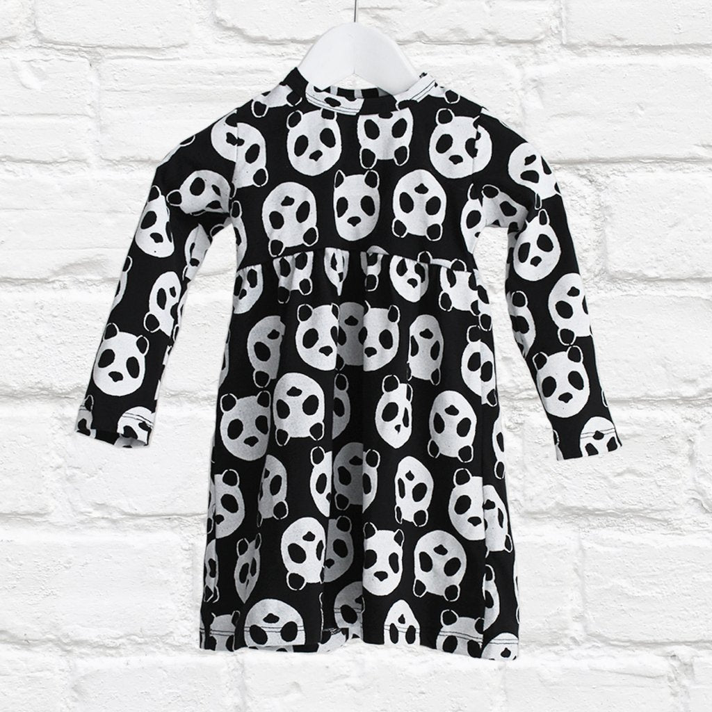 SundayTheLabel - L/S Empire Line Dress - Panda Gang