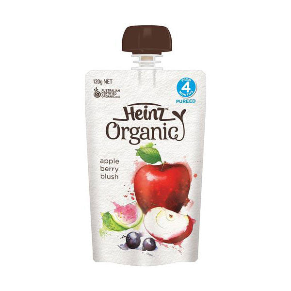 Heinz Simply Organic Apple Berry Blush Pouch and Spout 120g