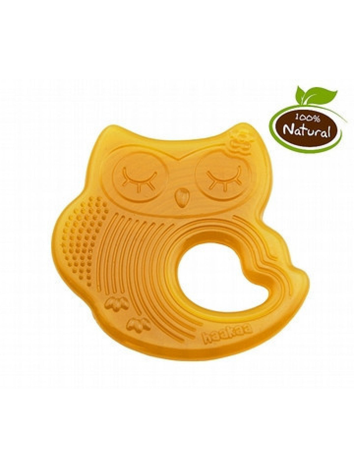 Haakaa Natural Rubber Teether - Owl Sleeping