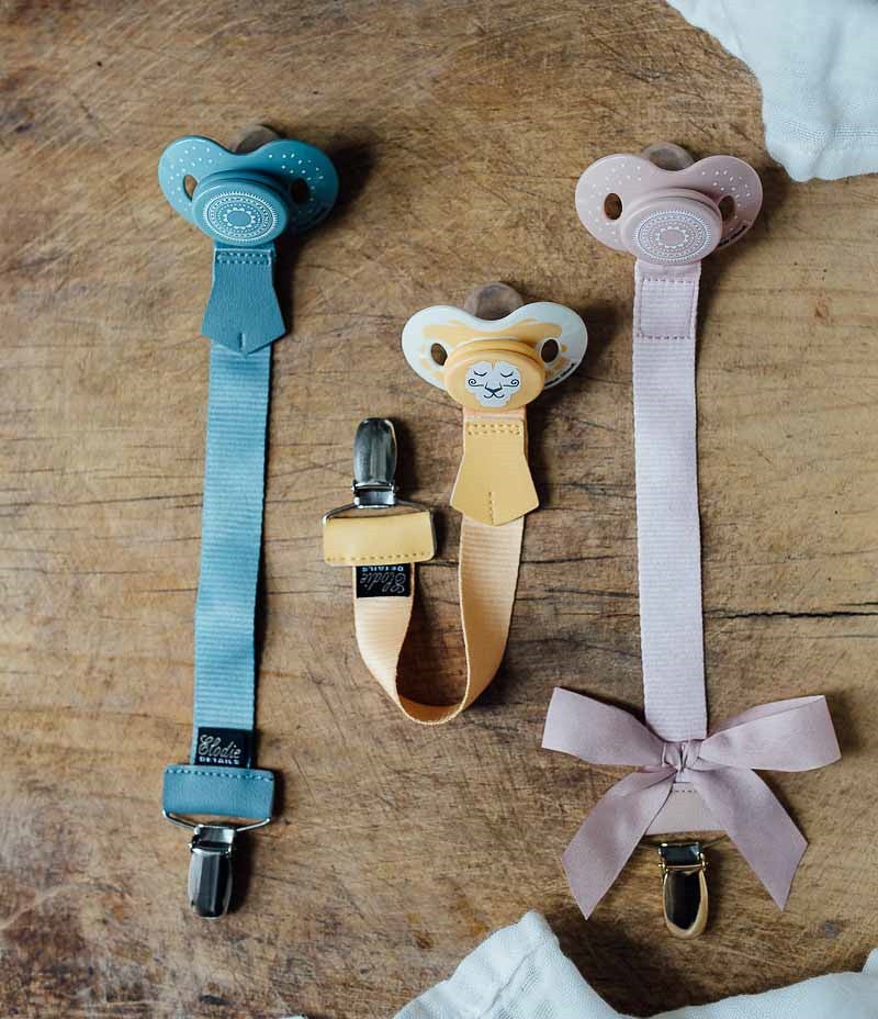 Pacifier Clip - Sweet Honey ON CLEARANCE