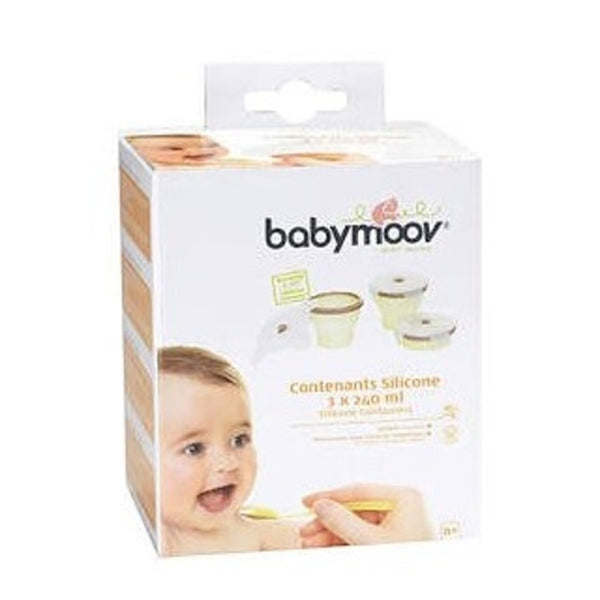 BabyMoov Silicone Containers 240ml x3