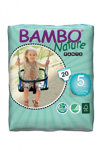 Bambo Nature Premium Baby Diapers, Size 5 Pants (12-20kg)