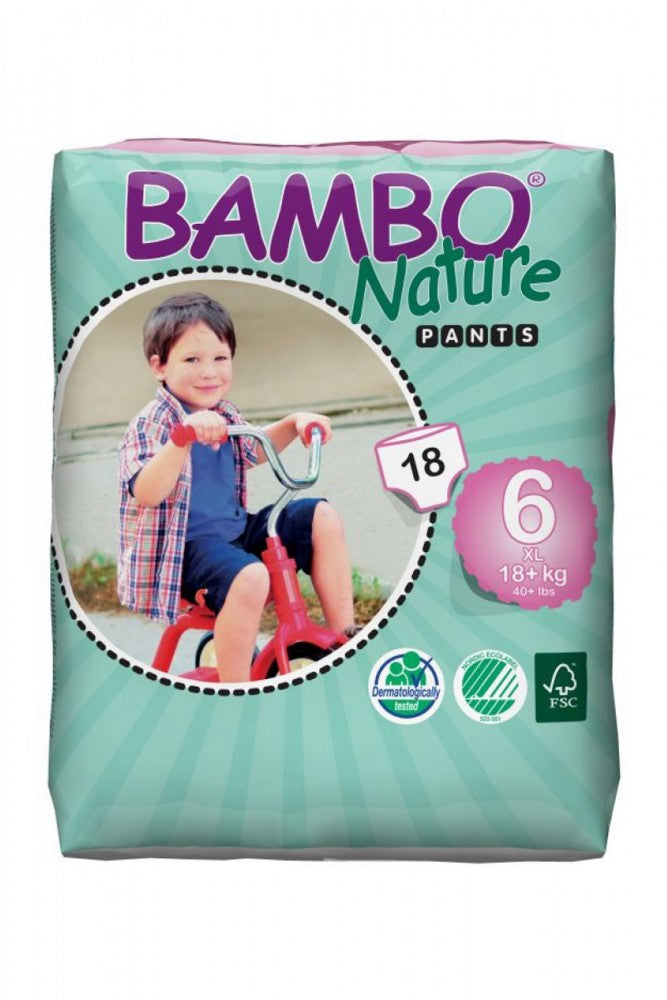 Bambo Nature Premium Baby Diapers, Size 6 Pants (18+kg)