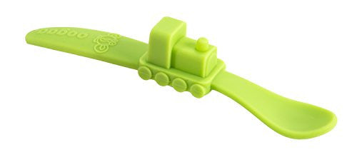 Oogaa - Silicone Baby Spoon (Green)